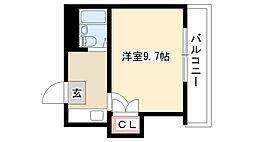 愛知県名古屋市南区駈上1丁目 の賃貸アパートの間取り