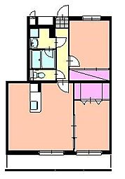 LA LUCE[2階]の間取り