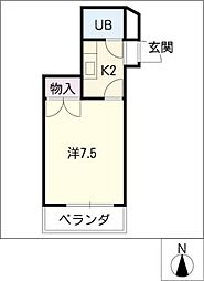 レジデンス万場山[2階]の間取り