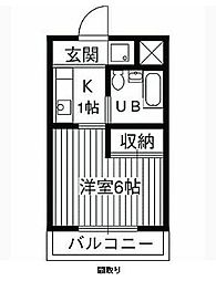 アルカディア湘南台[4階]の間取り