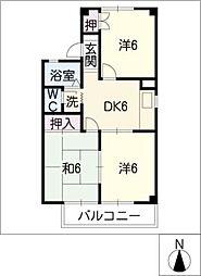 メゾン・ド・ラペ[1階]の間取り