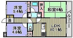 フェリーチェ和泉[4階]の間取り