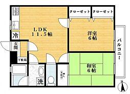 ガーデンプラザI[1階]の間取り