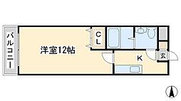 エル片野II[406号室]の間取り