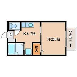 静岡県焼津市小柳津の賃貸アパートの間取り