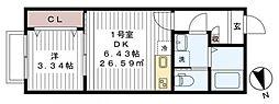 リロアン新松戸[101号室号室]の間取り