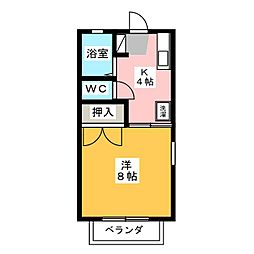 ドミール青笹 A[2階]の間取り