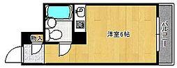 ロワイヤル北野[5階]の間取り