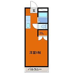ヒロ大巌寺[205号室]の間取り