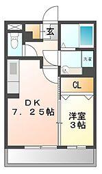 神奈川県川崎市高津区新作3丁目の賃貸アパートの間取り