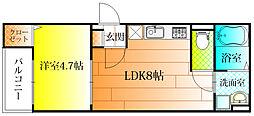 Grand平野[1階]の間取り