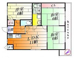 第2誠和ビル[4階]の間取り