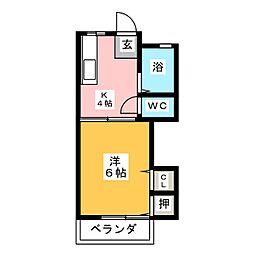 コーポ阪野[2階]の間取り