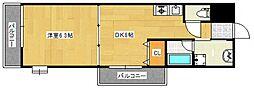 リード中央町[2階]の間取り