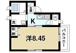 サンライズ尼ヶ辻P-1[2階]の間取り