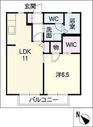サニーコートII[2階]の間取り