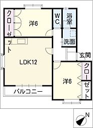 サンハイツNT A棟[2階]の間取り