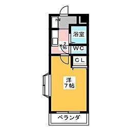 ヴァンベール桜山[2階]の間取り