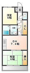 グレイス甲子園[2階]の間取り