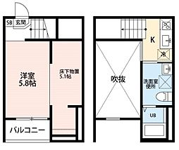 clarte 内田橋 II[1階]の間取り