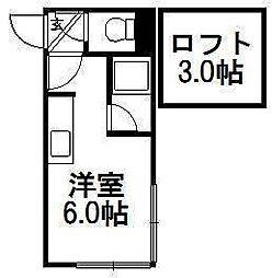 ピュアコートセレクト[3階]の間取り