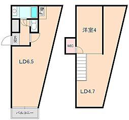 Ritz SQUARE PLACE[5階]の間取り