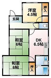 [一戸建] 千葉県山武市早船 の賃貸【/】の間取り