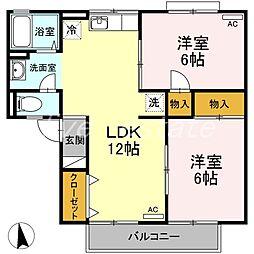 メゾン・ド・アムールA棟[2階]の間取り
