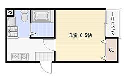 大阪府大阪市平野区喜連3丁目の賃貸マンションの間取り