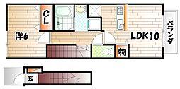 サニーヴィラ A棟[2階]の間取り