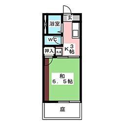 旭ハイム[1階]の間取り