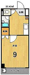 京都府京都市中京区今新在家西町の賃貸マンションの間取り