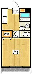 サニーハイツA[101号室]の間取り