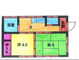 [一戸建] 神奈川県厚木市旭町1丁目 の賃貸【/】の間取り