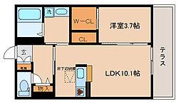 兵庫県神戸市北区鈴蘭台東町1丁目の賃貸アパートの間取り