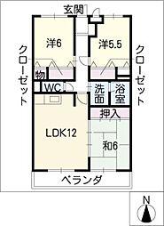 ヨネックスマンション[2階]の間取り