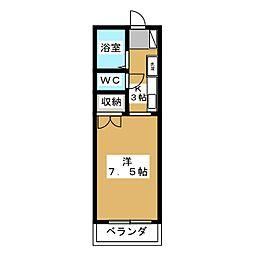 アーバン日野[1階]の間取り