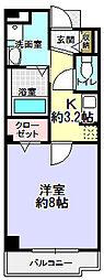 クレール エイメイ[1階]の間取り