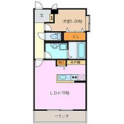 La Quadrifoglio[1階]の間取り