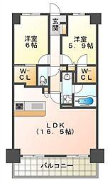 JPnoie吹田[1階]の間取り