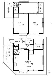 [一戸建] 東京都中野区大和町1丁目 の賃貸【/】の間取り