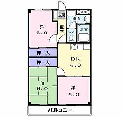 愛知県名古屋市中川区小本本町3丁目の賃貸マンションの間取り