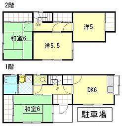 [一戸建] 静岡県浜松市中区北寺島町 の賃貸【/】の間取り
