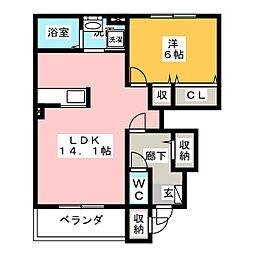 インサイド1[1階]の間取り