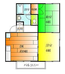 的場ハイツII[1階]の間取り