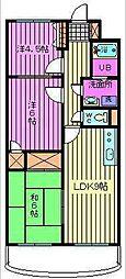 埼玉県さいたま市緑区東浦和2丁目の賃貸マンションの間取り