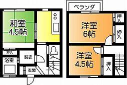 [テラスハウス] 千葉県市原市君塚4丁目 の賃貸【/】の間取り