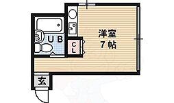 F・COURT 1階ワンルームの間取り