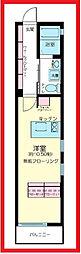 東京都北区神谷3丁目の賃貸アパートの間取り