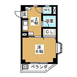 SUMIワンルームマンション[3階]の間取り